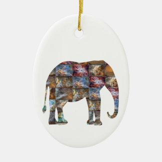Ornement Ovale En Céramique Animal amical majestueux : Tuiles de marbre