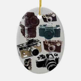 Ornement Ovale En Céramique appareil-photo affligé de photographie de