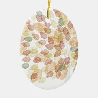 Ornement Ovale En Céramique Arbre de bouleau dans des couleurs d'automne