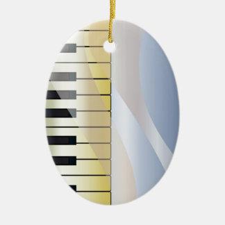 Ornement Ovale En Céramique Arrière - plan abstrait de musique