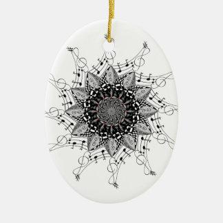Ornement Ovale En Céramique Art de mandala
