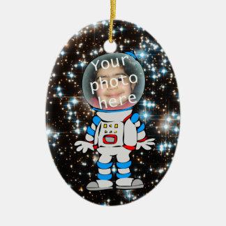 Ornement Ovale En Céramique Astronaute dans la formation - modèle d'enfant
