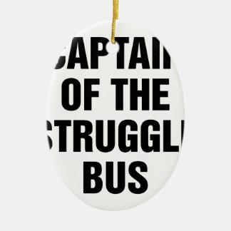 Ornement Ovale En Céramique Autobus de lutte