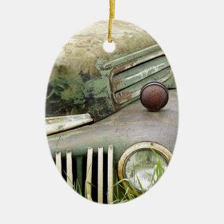 Ornement Ovale En Céramique Automobile rouillée de véhicule d'antiquité de
