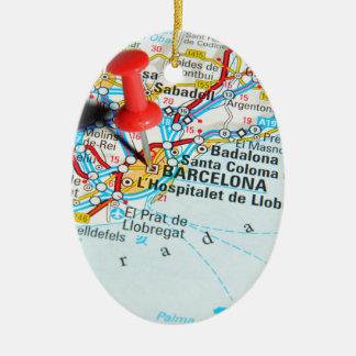 Ornement Ovale En Céramique Barcelone, Espagne
