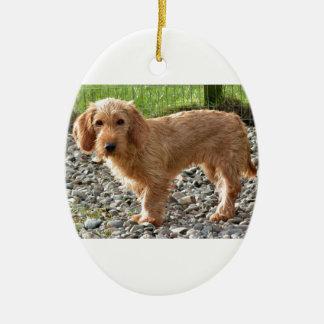 Ornement Ovale En Céramique Basset Fauve de la Bretagne Dog