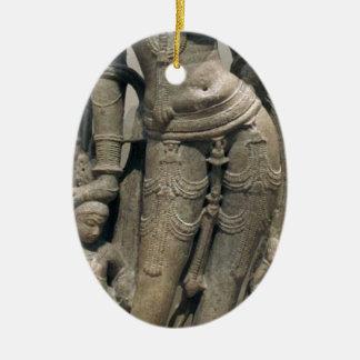 Ornement Ovale En Céramique Beauté céleste (Surasundari)
