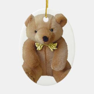 Ornement Ovale En Céramique Bébé d'ours de nounours s'attendant à l'amour de