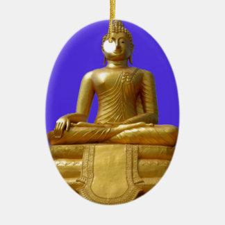 Ornement Ovale En Céramique Bouddha