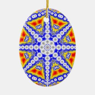 Ornement Ovale En Céramique Bouddha bleu