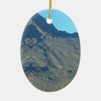 Ornement Ovale En Céramique Bouddha de la montagne
