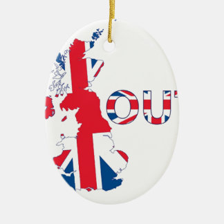 ORNEMENT OVALE EN CÉRAMIQUE BREXIT UNION JACK