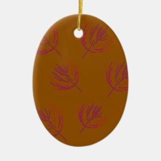 Ornement Ovale En Céramique Brun d'algues