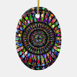 Ornement Ovale En Céramique Cadeaux de mandala