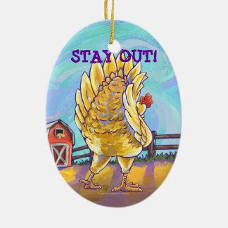 Ornement Ovale En Céramique Cadeaux et accessoires de poulet
