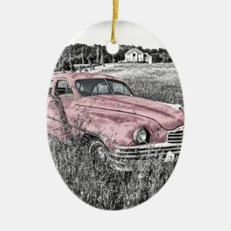 Ornement Ovale En Céramique Capot vintage de moteur de phare de voiture