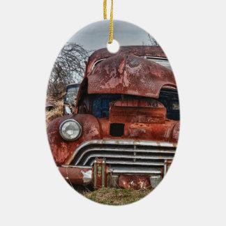 Ornement Ovale En Céramique car39