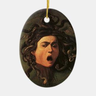 Ornement Ovale En Céramique Caravaggio - méduse - illustration italienne