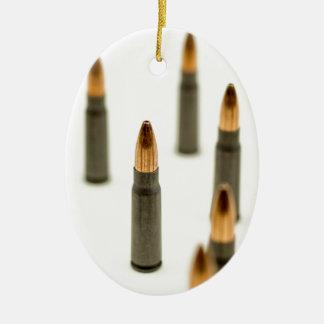 Ornement Ovale En Céramique Cartouche 7.62x39 d'AK47 de balle de munitions
