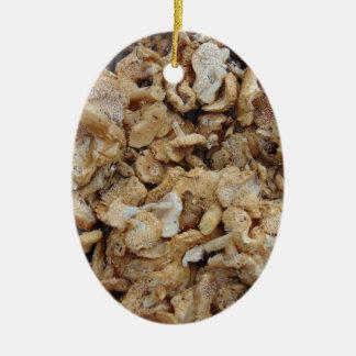 Ornement Ovale En Céramique Champignons de hérisson