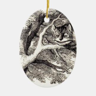 Ornement Ovale En Céramique Chat de Cheshire