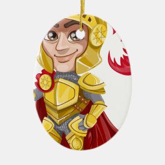 Ornement Ovale En Céramique chevalier