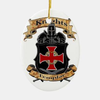 Ornement Ovale En Céramique Chevaliers Templar
