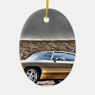 Ornement Ovale En Céramique Classique 1972 de vétéran de Hdr de voiture