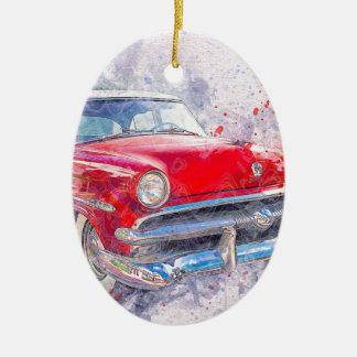 Ornement Ovale En Céramique Classique vintage de vieille voiture de voiture