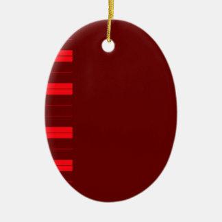 Ornement Ovale En Céramique Clés rouges de piano