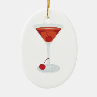 Ornement Ovale En Céramique Cocktail de Manhattan