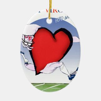 Ornement Ovale En Céramique coeur principal de W la Virginie, fernandes