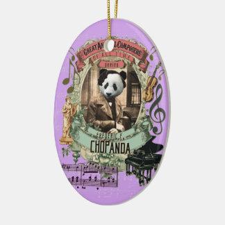 Ornement Ovale En Céramique Compositeur animal Chopin de panda de Frederic