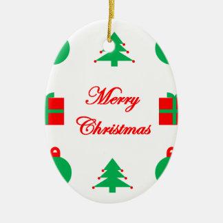Ornement Ovale En Céramique Conception de Joyeux Noël