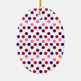 Ornement Ovale En Céramique Concevez les points ronds simples Polk de mode de