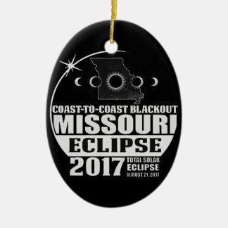 Ornement Ovale En Céramique Côte pour marcher l'éclipse 2017 du Missouri