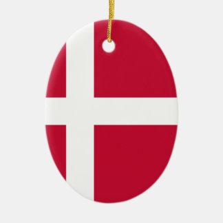 Ornement Ovale En Céramique Coût bas ! Drapeau du Danemark