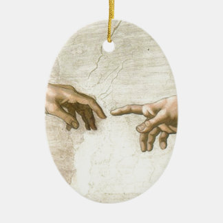 Ornement Ovale En Céramique Création des mains d'Adam - Michaël Angelo