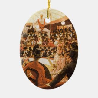 Ornement Ovale En Céramique Dames sportives (ou amant de cirque) par James