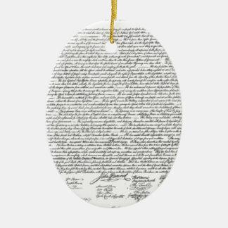 Ornement Ovale En Céramique Déclaration d'indépendance