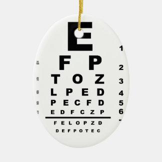 Ornement Ovale En Céramique Diagramme d'essai d'oeil