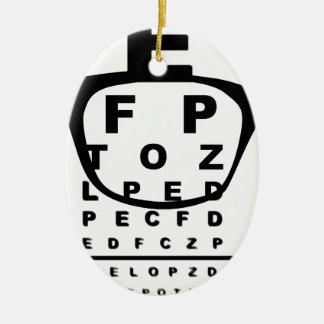 Ornement Ovale En Céramique Diagramme d'essai d'oeil de Blurr