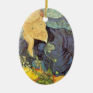 Ornement Ovale En Céramique Docteur Gachet Portrait par Vincent van Gogh