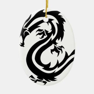 Ornement Ovale En Céramique dragon