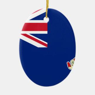 Ornement Ovale En Céramique Drapeau des Îles Caïman - Union Jack