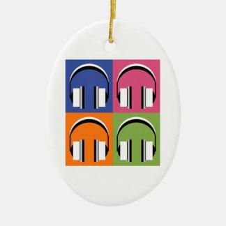 Ornement Ovale En Céramique écouteurs dans des couleurs lumineuses