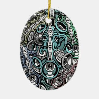 Ornement Ovale En Céramique éléphant de musique