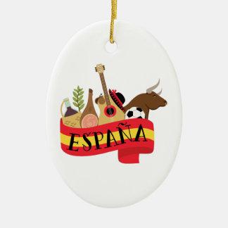 Ornement Ovale En Céramique Espana