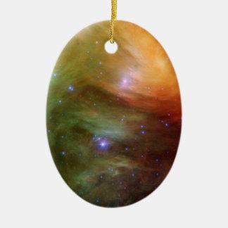 Ornement Ovale En Céramique Étoiles de Pleiades dans SSC2007 infrarouge 07A