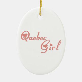Ornement Ovale En Céramique Fille du Québec
